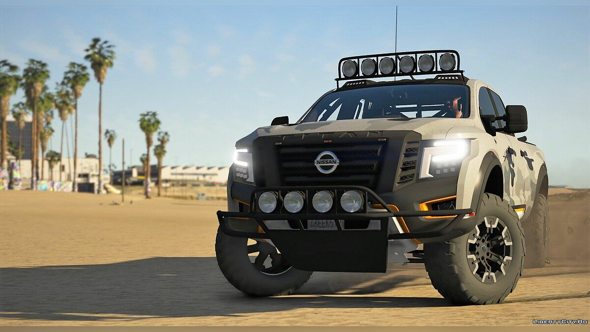 Машина Nissan Nissan Titan Warrior 2017 [Add-On | Replace | Livery | Extras | Template| Tuning | Dirt] 2.2 для GTA 5