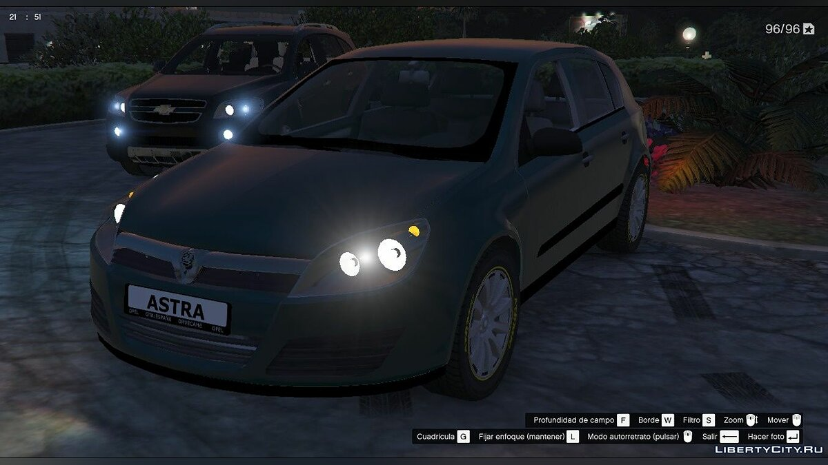 Машина OPEL Opel / Vauxhall Astra 2004 Civil version [Replace] для GTA 5