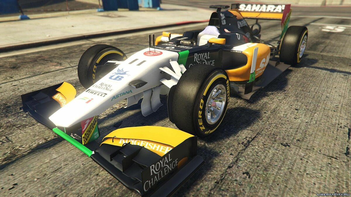 Force India2 F1 [+ Add-On] для GTA 5 - скриншот #3