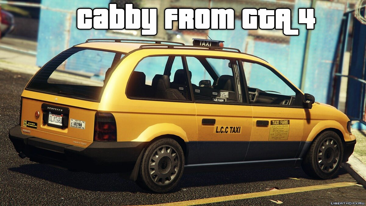 Schyster Cabby from GTA 4 для GTA 5