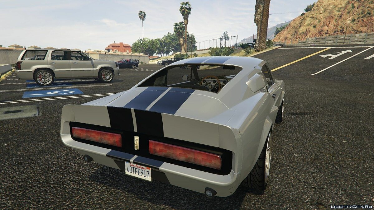 Машина 1967 Shelby Mustang GT500 Eleanor для GTA 5