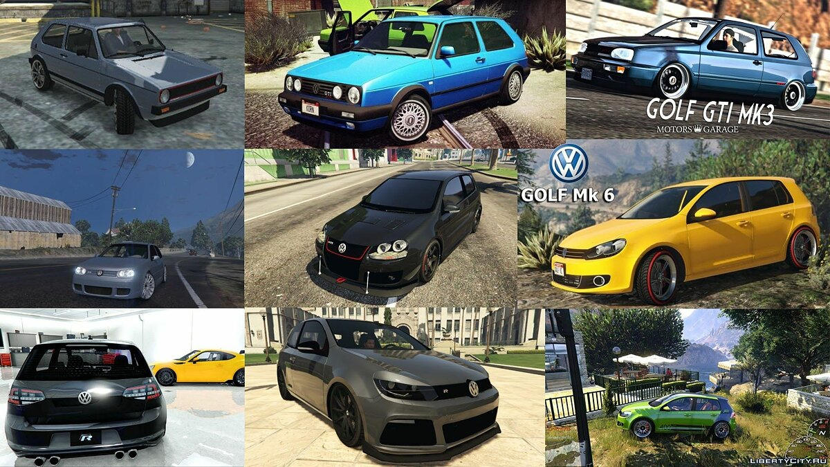 Volkswagen Golf Add-On Pack 1.0 для GTA 5