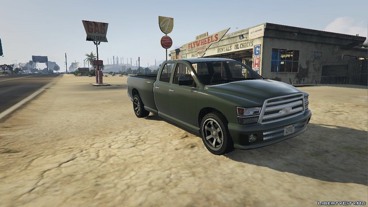 Bravado Bison Quad Cab Long Bed 1.0 для GTA 5 - скриншот #4