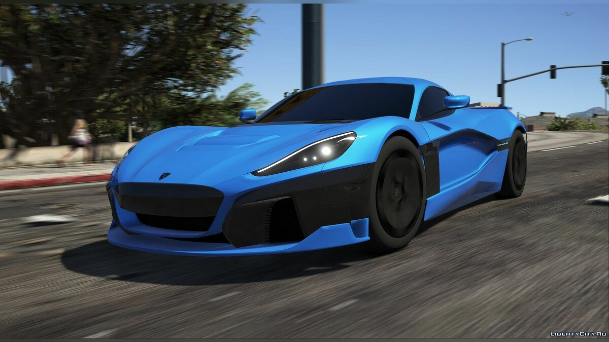 Машина Rimac Concept Two 2020 [Add-On] 1.0 для GTA 5