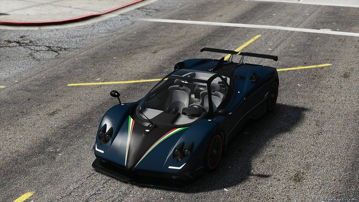 Pagani Zonda Tricolore 2010 [Add-On/Replace] 2.0 для GTA 5 - скриншот #11