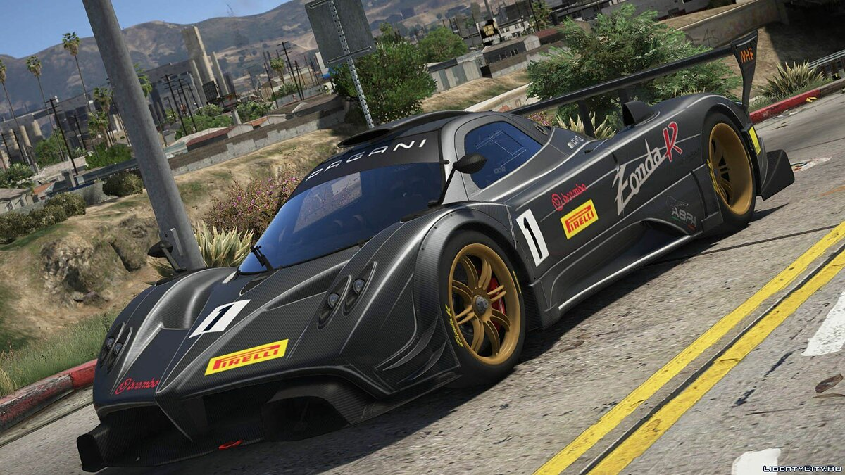 Машина Pagani 2012 Pagani Zonda R [Add-On / Replace | Liveries | Template] 1.0 для GTA 5