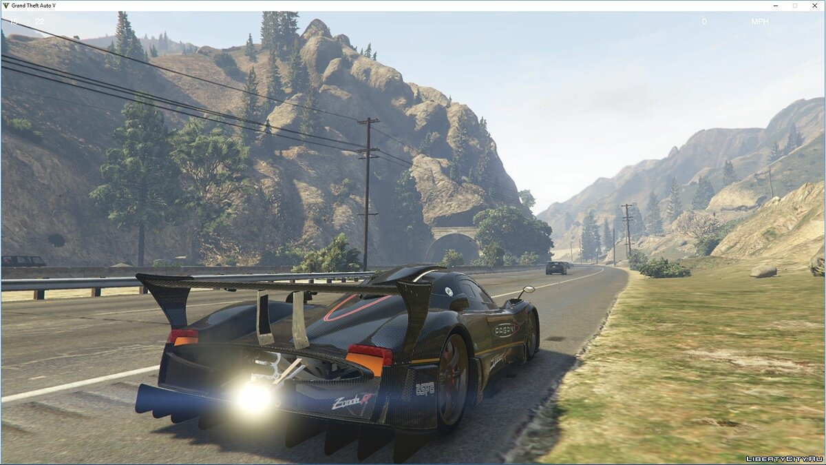 Машина Pagani Pagani Zonda R [Add-On | Replace | Template] 1.0 для GTA 5