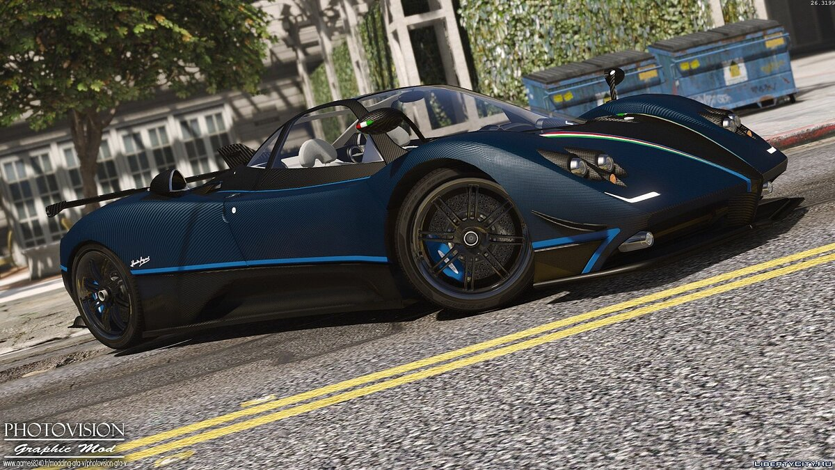 Pagani Zonda Tricolore 2010 [Add-On / Replace] 3.0 для GTA 5 - скриншот #6