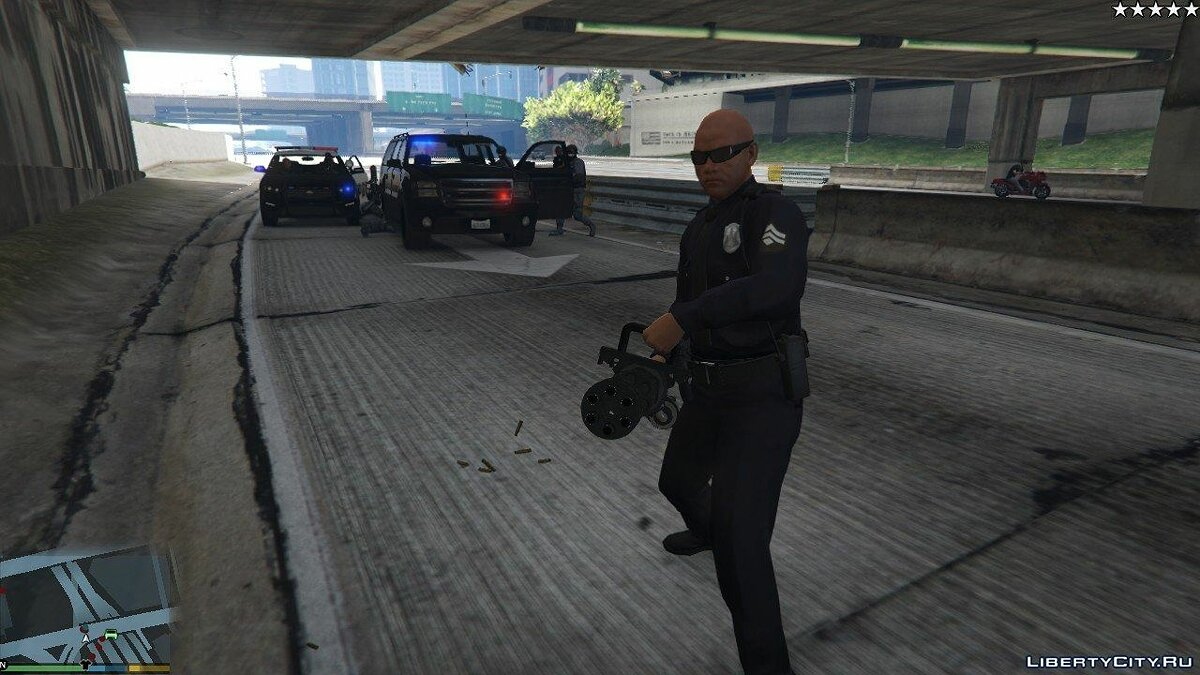 Cops/Police/SWAT/Army have Miniguns 1.0 для GTA 5
