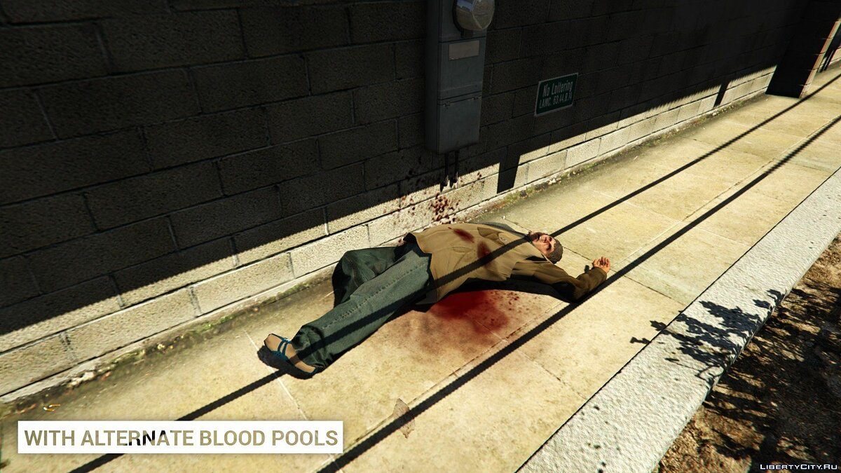 Alternate Blood Pools 1.0 для GTA 5 - скриншот #3