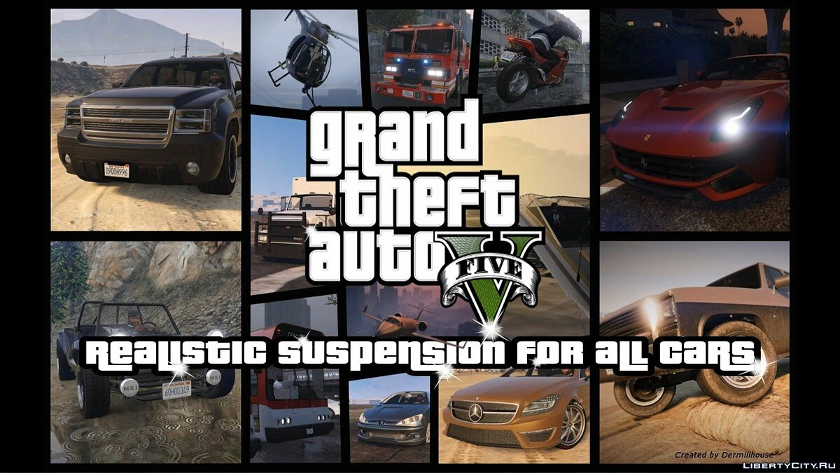 Realistic suspension for all cars 1.9.1 для GTA 5