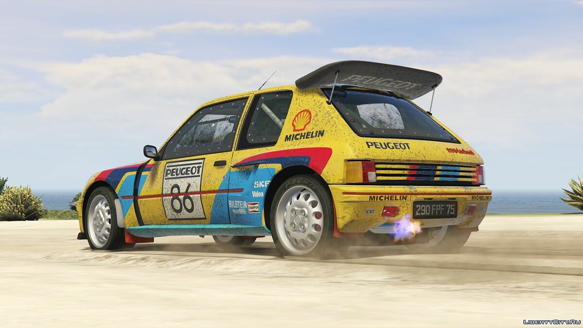 Peugeot 205 Turbo 16 & Rally (2in1) [Add-On | Tuning | Livery] 1.0 для GTA 5 - скриншот #6