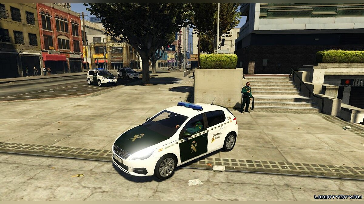 Машина Peugeot Peugeot 308 de la Guardia Civil 2018 для GTA 5