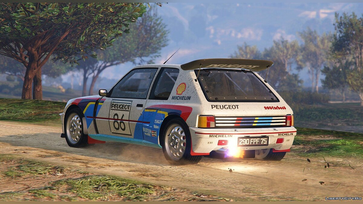 Peugeot 205 Turbo 16 (2 Cars Pack) [Add-On | Tuning | Livery] 1.3 для GTA 5 - скриншот #9