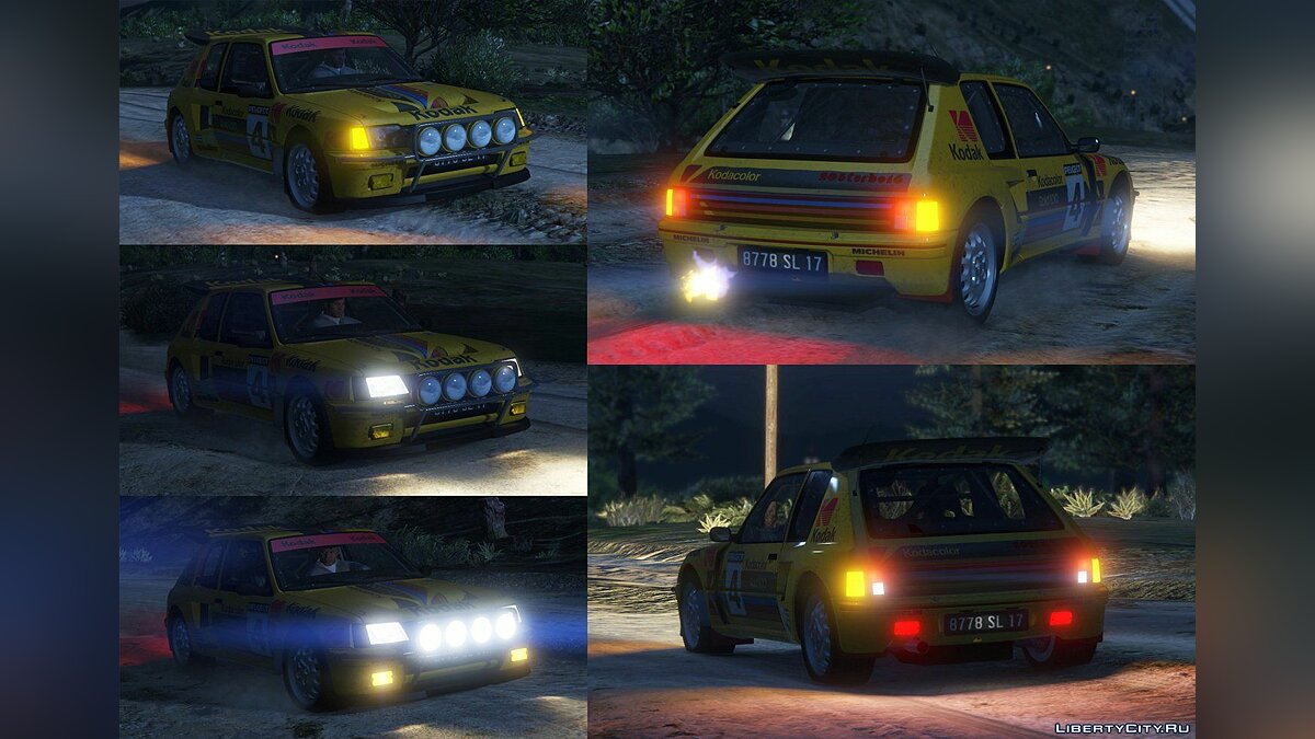 Peugeot 205 Turbo 16 (2 Cars Pack) [Add-On | Tuning | Livery] 1.3 для GTA 5 - скриншот #11