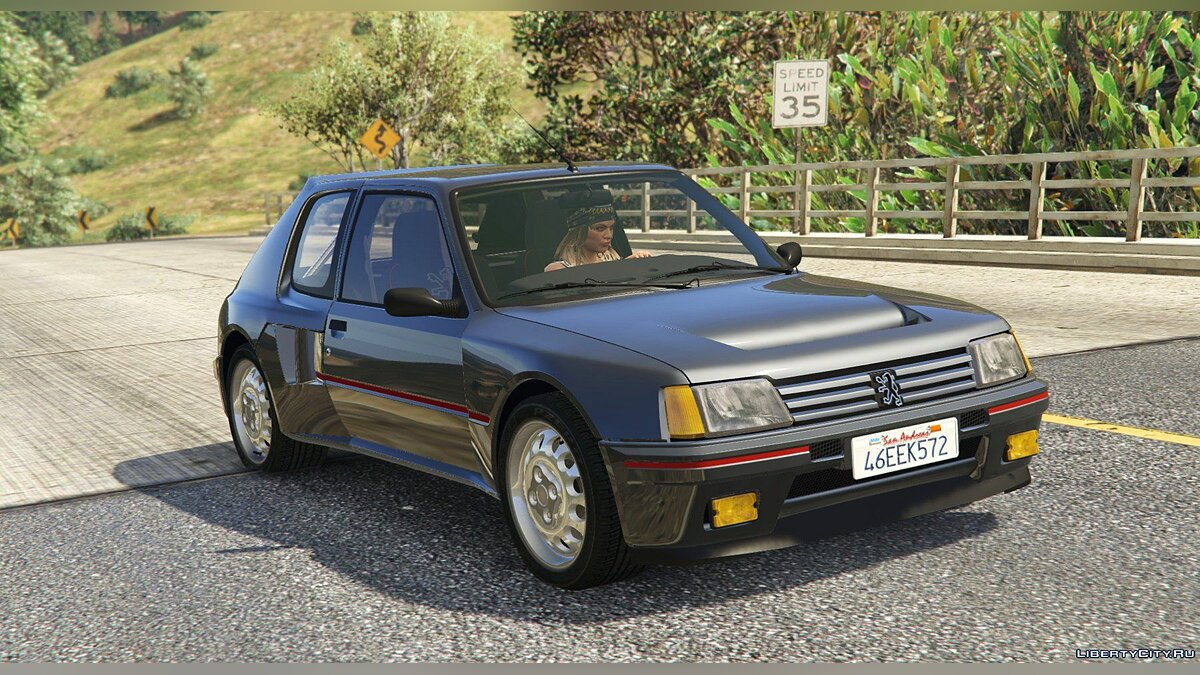 ��ашина Peugeot Peugeot 205 Turbo 16 (2 Cars Pack) [Add-On | Tuning | Livery] 1.4 для GTA 5