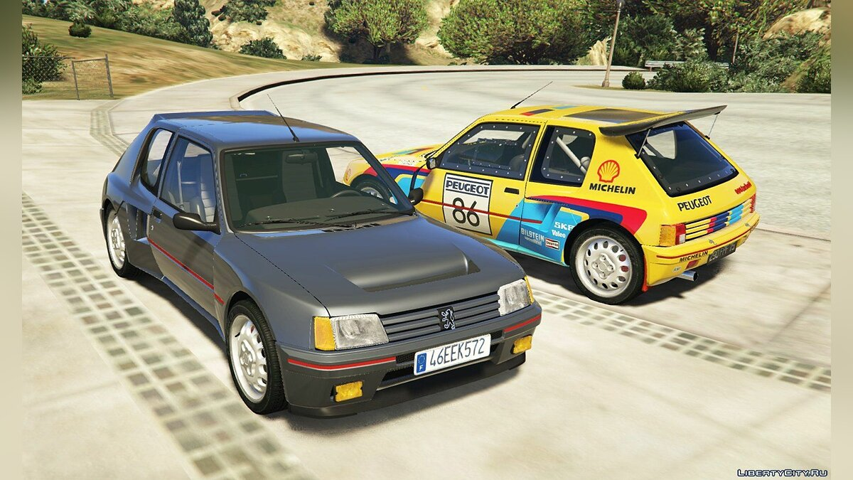 Peugeot 205 Turbo 16 & Rally (2in1) [Add-On | Tuning | Livery] 1.1 для GTA 5