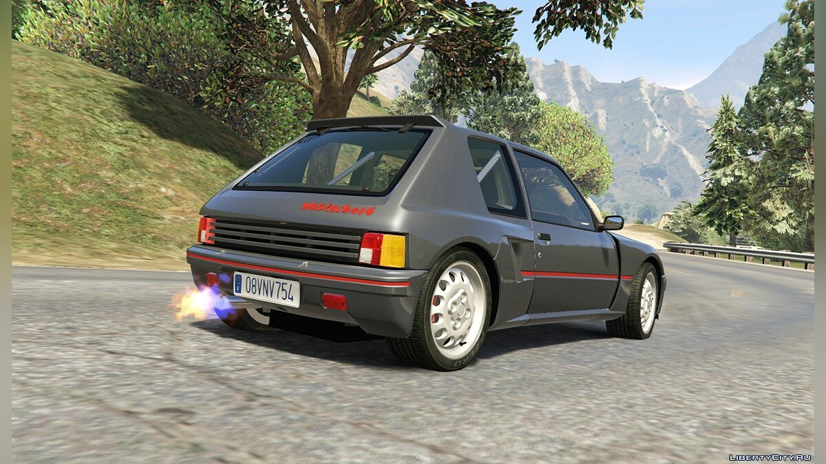 Peugeot 205 Turbo 16 & Rally (2in1) [Add-On | Tuning | Livery] 1.1 для GTA 5 - скриншот #5