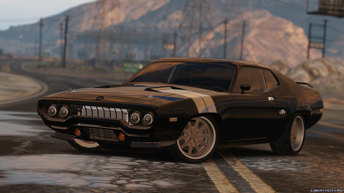 Машина Plymouth 1971 Plymouth RoadRunner GTX 440 (Fate and the Furious) [Add-On/Replace] 1.0 для GTA 5