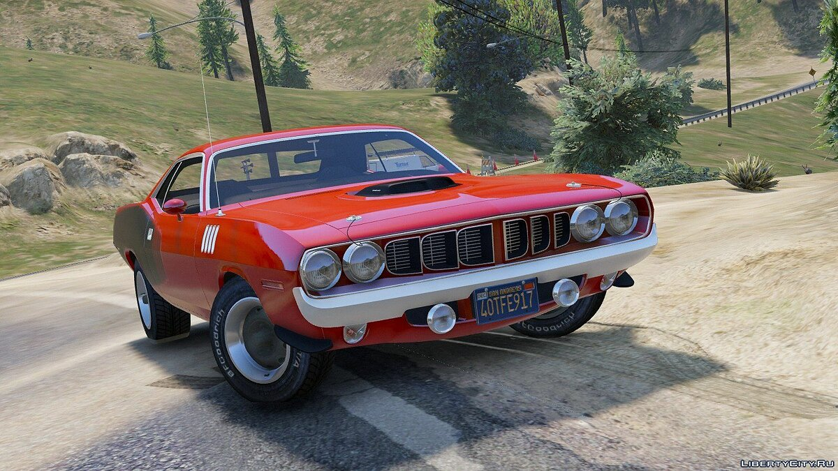��ашина Plymouth 1971 Plymouth Hemi Cuda [Add-On / Replace | HQ] 1.0 для GTA 5