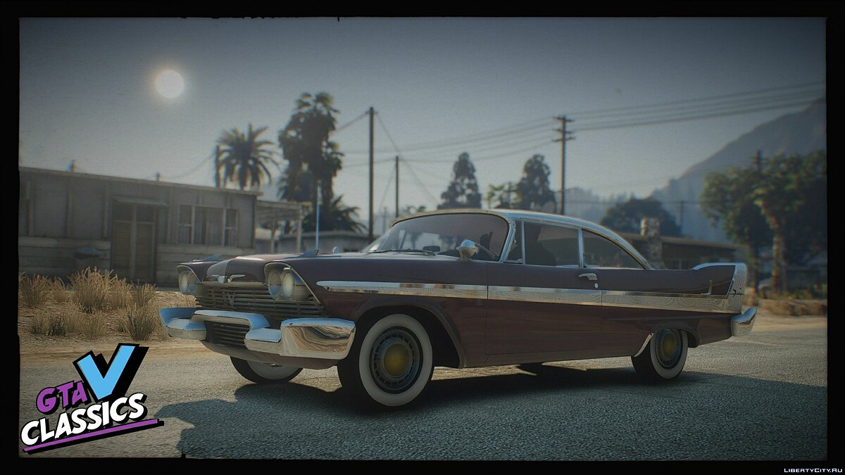 Машина Plymouth 1958 Plymouth Pack [Add-On | Extras | LODs] 1.0 для GTA 5