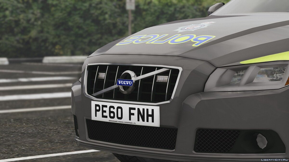 2010 Volvo V70 British Transport Police ARV [ELS] 1.0 для GTA 5 - скриншот #5