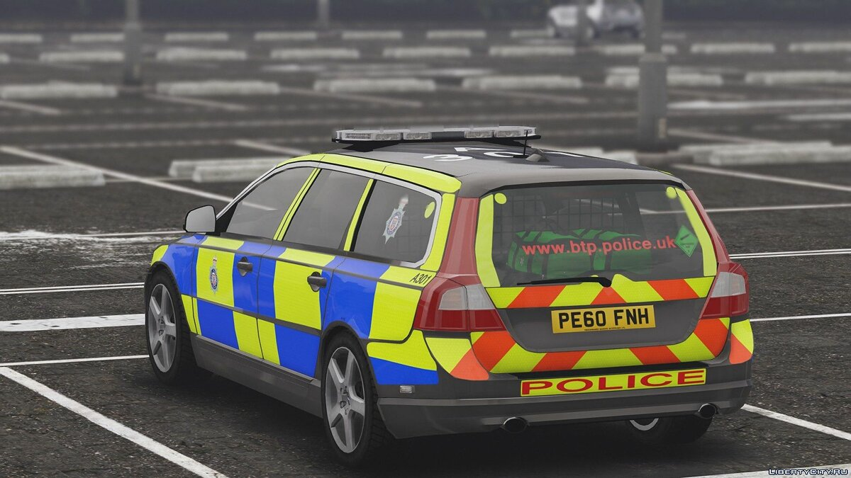 2010 Volvo V70 British Transport Police ARV [ELS] 1.0 для GTA 5 - скриншот #6