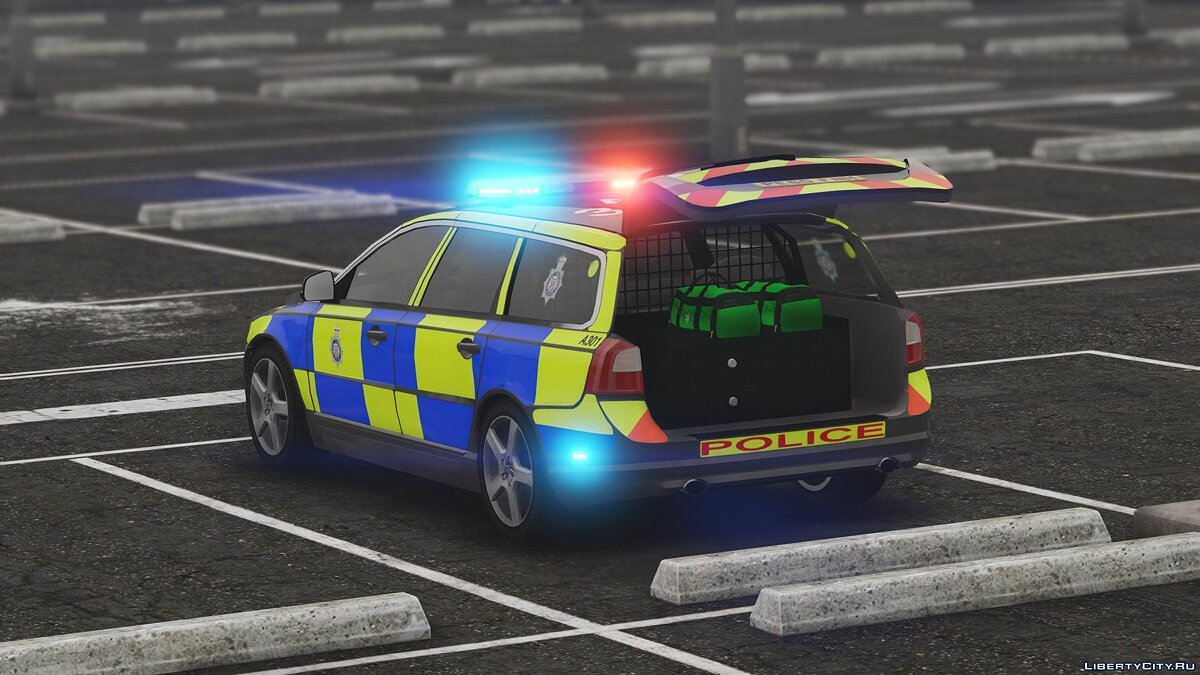 2010 Volvo V70 British Transport Police ARV [ELS] 1.0 для GTA 5 - скриншот #7