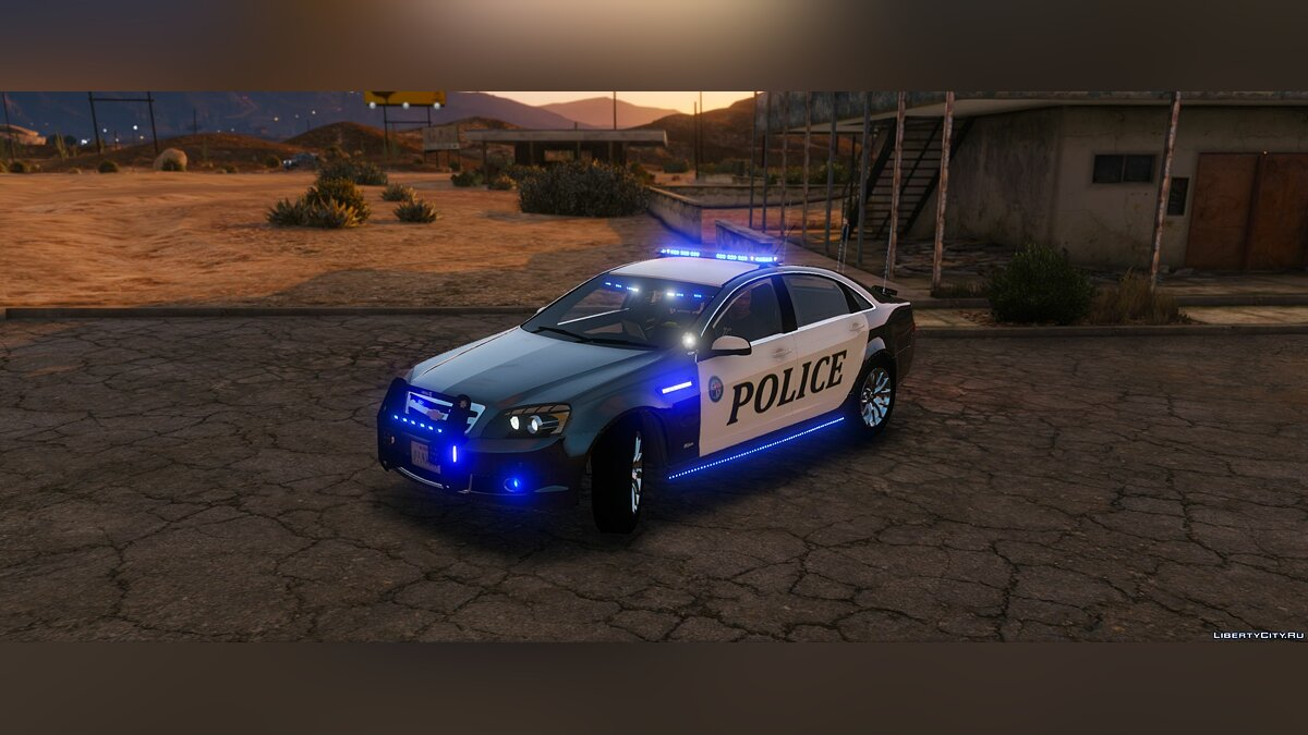 Chevrolet Caprice Police epic lights [ELS] 1.1 для GTA 5 - скриншот #3