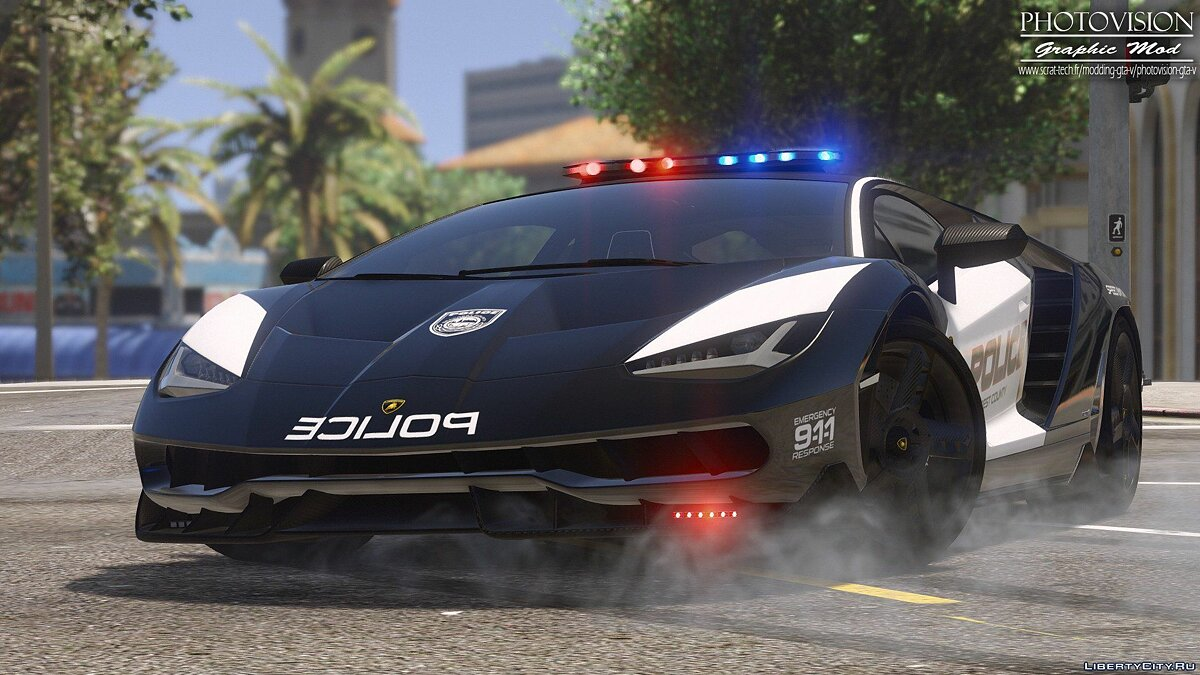 Lamborghini Centenario | Hot Pursuit Police [Add-On / Replace] 1.0 для GTA 5 - скриншот #10