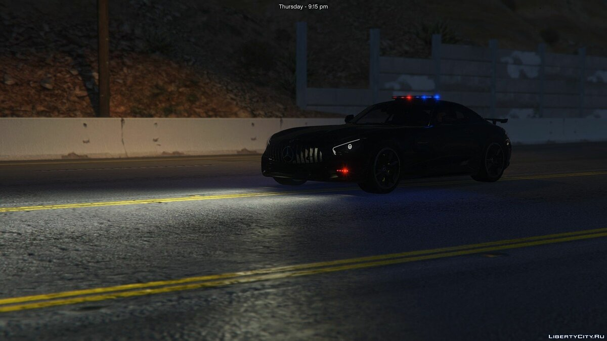 Машина полиции Mercedes-Benz AMG GT-R Police (ADD-ON) 1.0 для GTA 5