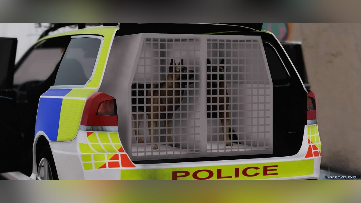 2014 Merseyside Police Volvo V70 Dog Section Pack [ELS] 1.0 для GTA 5 - скриншот #3