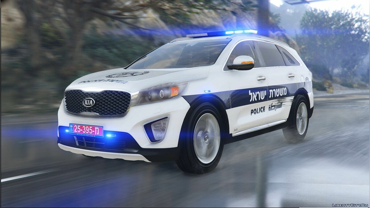 Машина полиции Kia Sorento Полиция Израиля [Add-On / Fivem Ready / Replace [ELS] V.1 для GTA 5