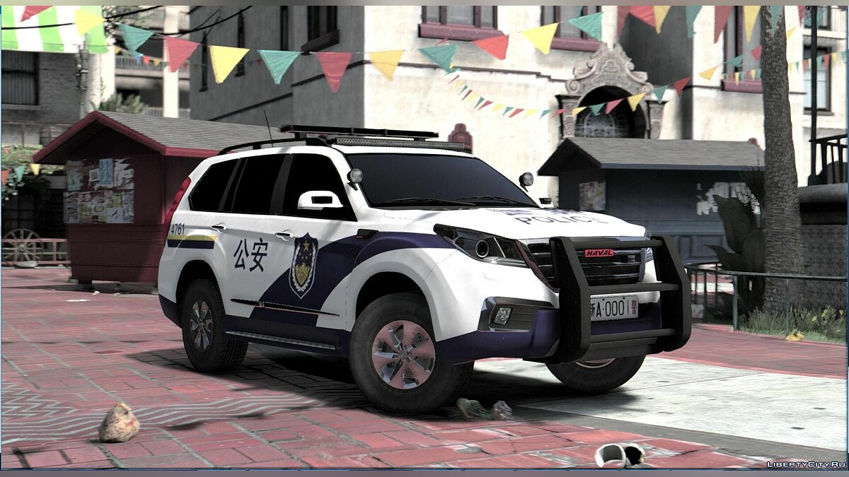Great Wall Haval H9 Police [Replace] 1.1 для GTA 5 - скриншот #2