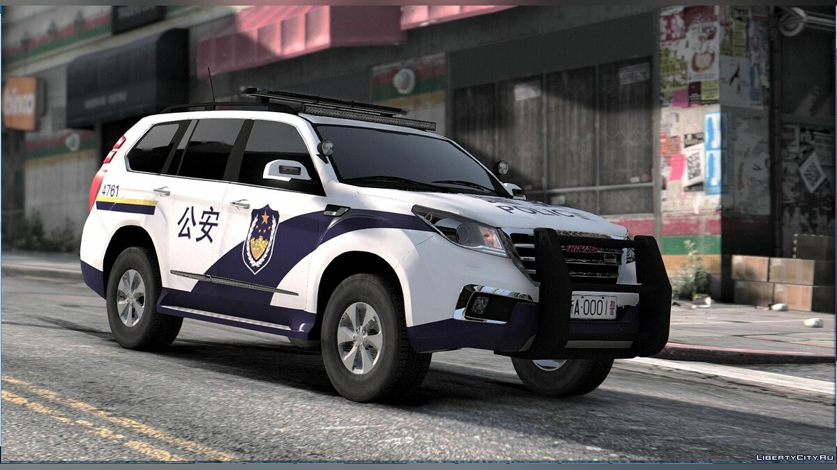 ��ашина полиции Great Wall Haval H9 Police [Replace] 1.1 для GTA 5