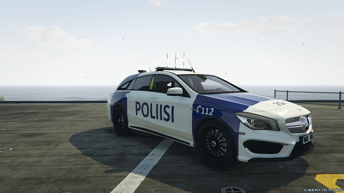 Finnish Police Mercedes-Benz CL 45 AMG LAST для GTA 5 - скриншот #3