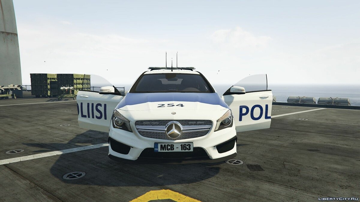 Finnish Police Mercedes-Benz CL 45 AMG LAST для GTA 5 - скриншот #6