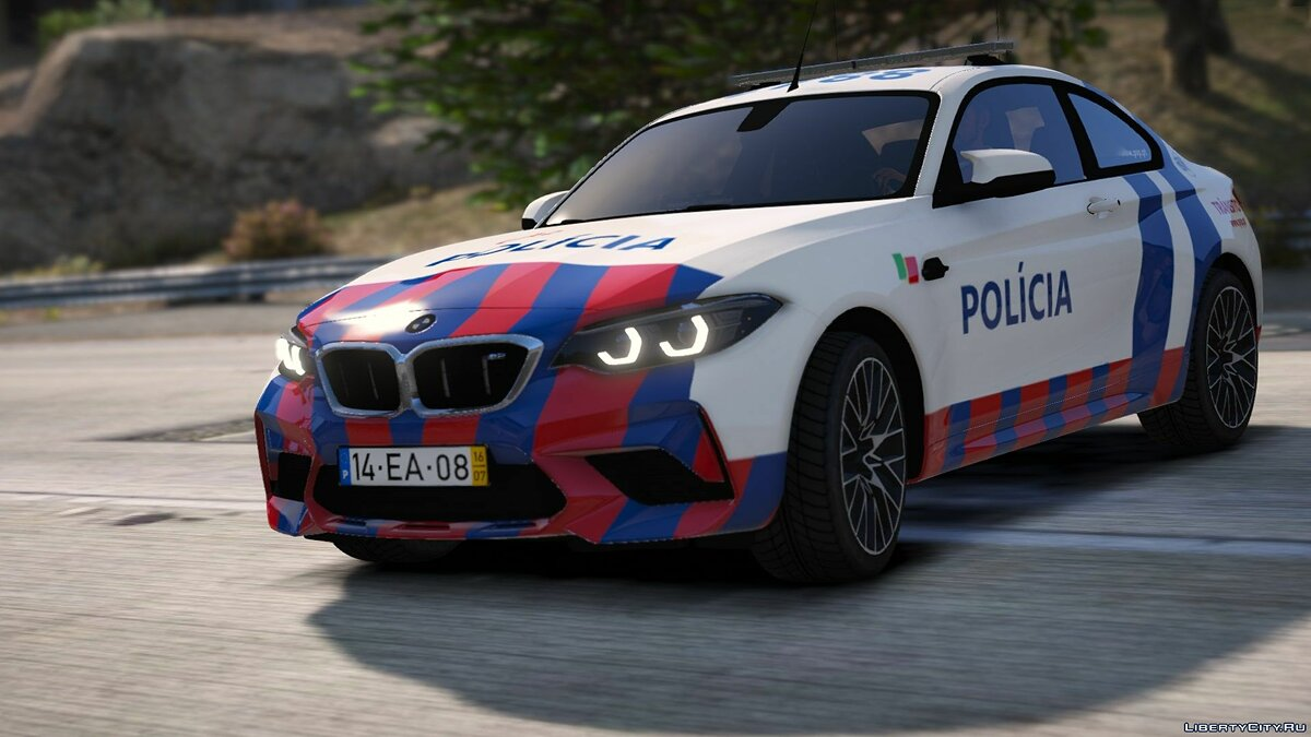 Машина полиции BMW M2 Competition | Portuguese Public Security Police PSP [ELS | Replace] для GTA 5