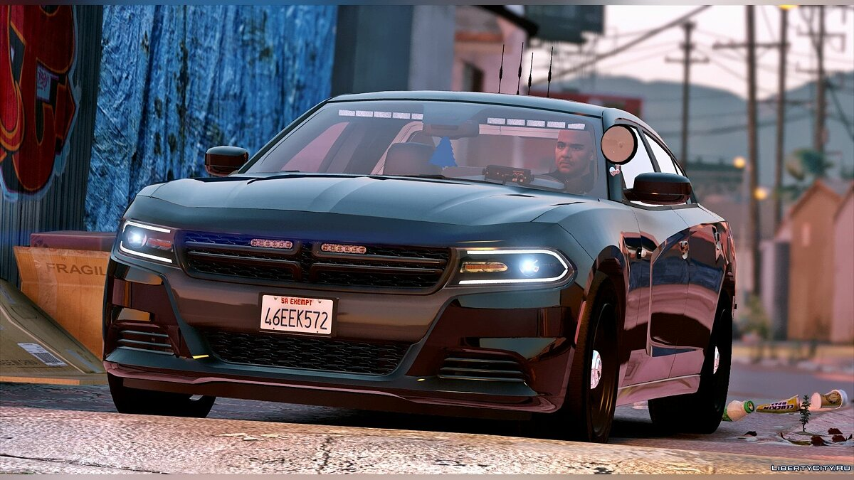 2016 Unmarked Dodge Charger [ELS] для GTA 5