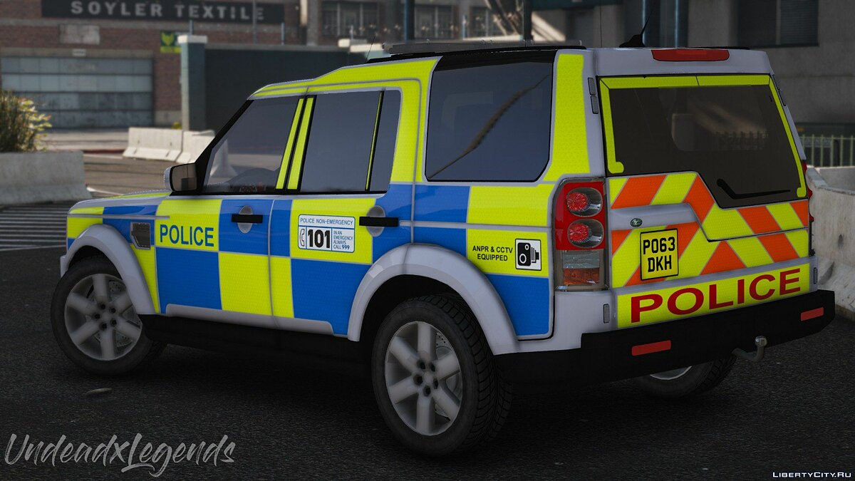 2013 Police Land Rover Discovery 4 [Replace | ELS] V1 для GTA 5 - скриншот #3