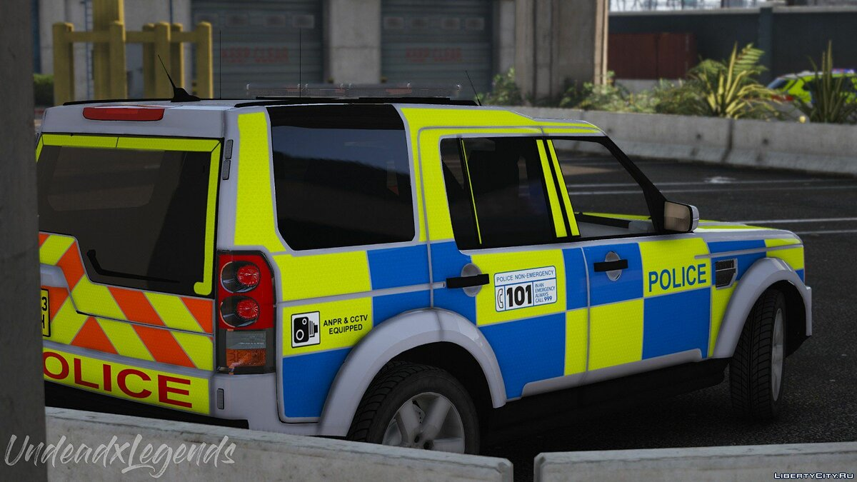 2013 Police Land Rover Discovery 4 [Replace | ELS] V1 для GTA 5 - скриншот #4
