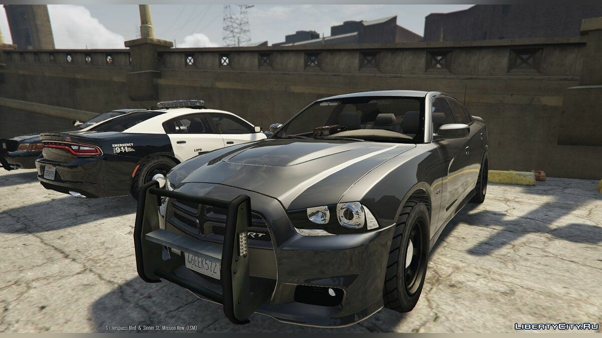 2012 Unmarked Dodge Charger HD v1 для GTA 5 - скриншот #2