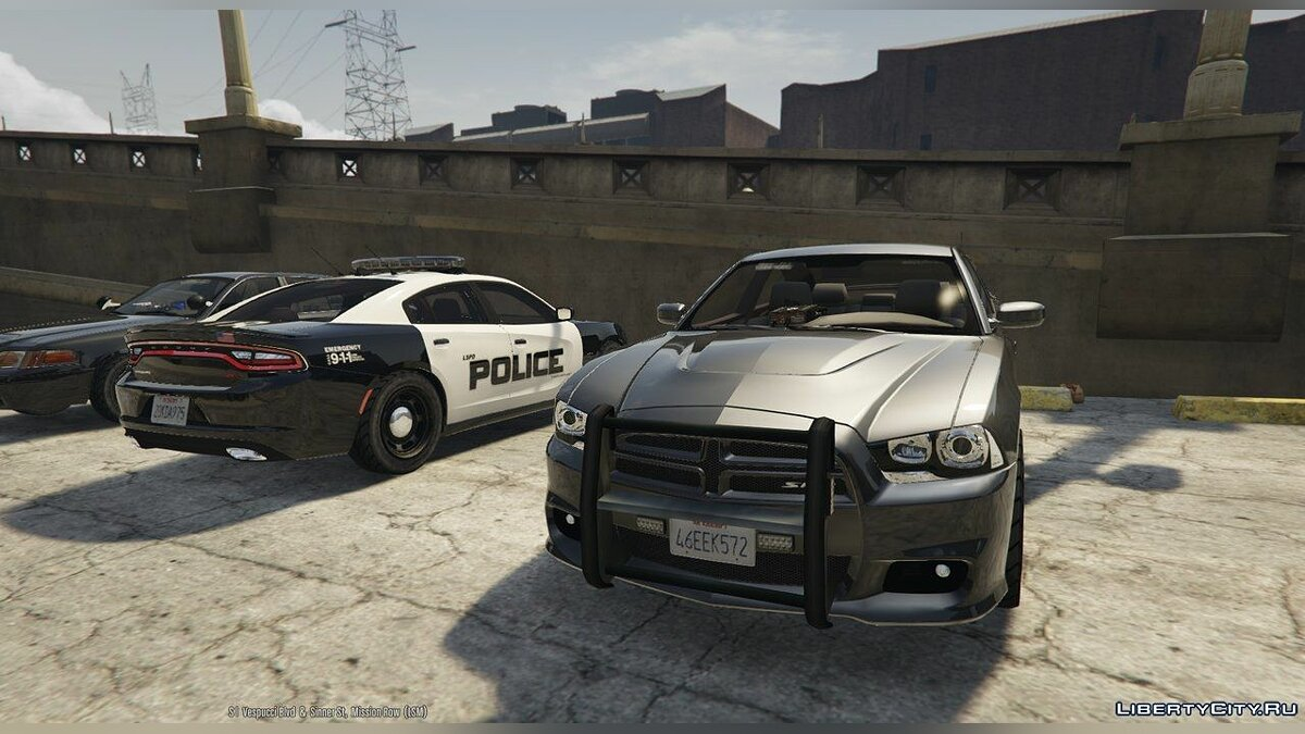 2012 Unmarked Dodge Charger HD v1 для GTA 5