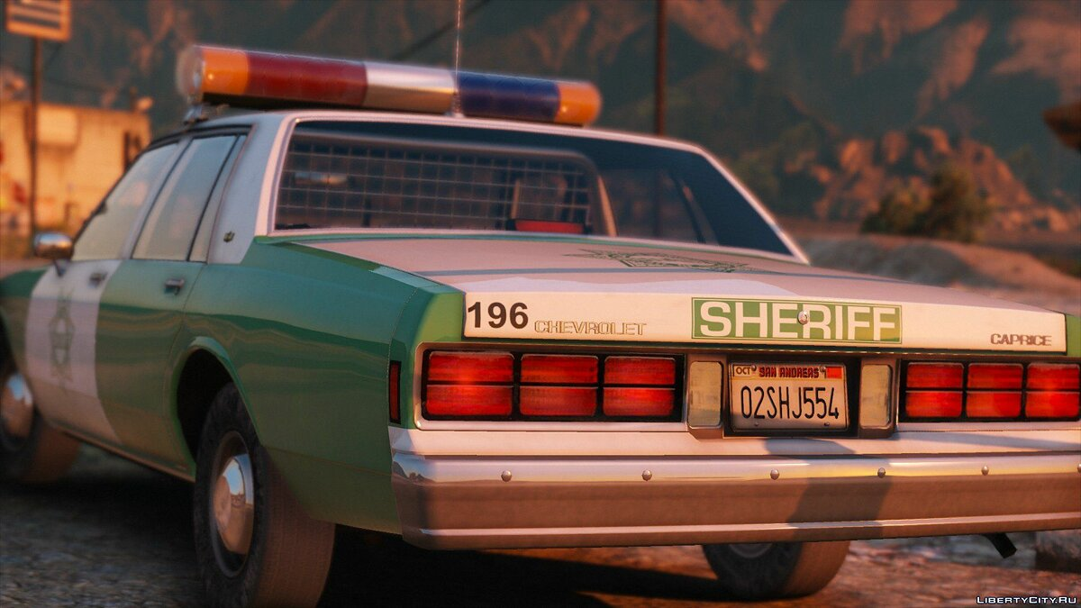 [ELS] 1990 Chevrolet Caprice 9C1 - San Diego County Sheriff's Office 1.0 для GTA 5 - скриншот #4