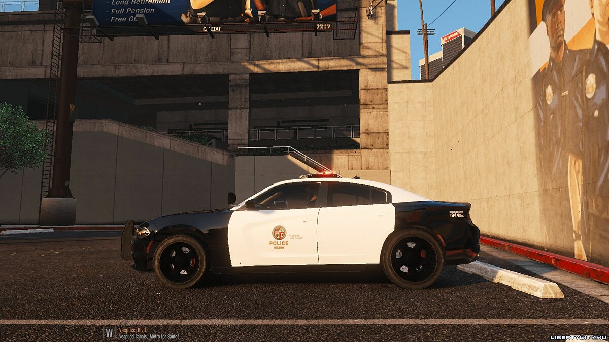 Машина полиции Fictional 2016 LAPD Style Dodge Charger [ELS] для GTA 5