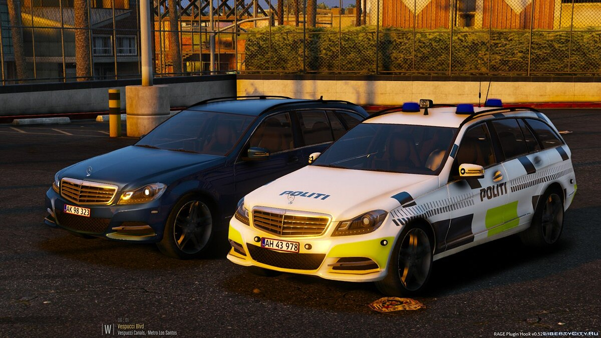 Машина полиции 2012 Mercedes C-class Estate - Danish Police Pack [ELS] [BETA] для GTA 5