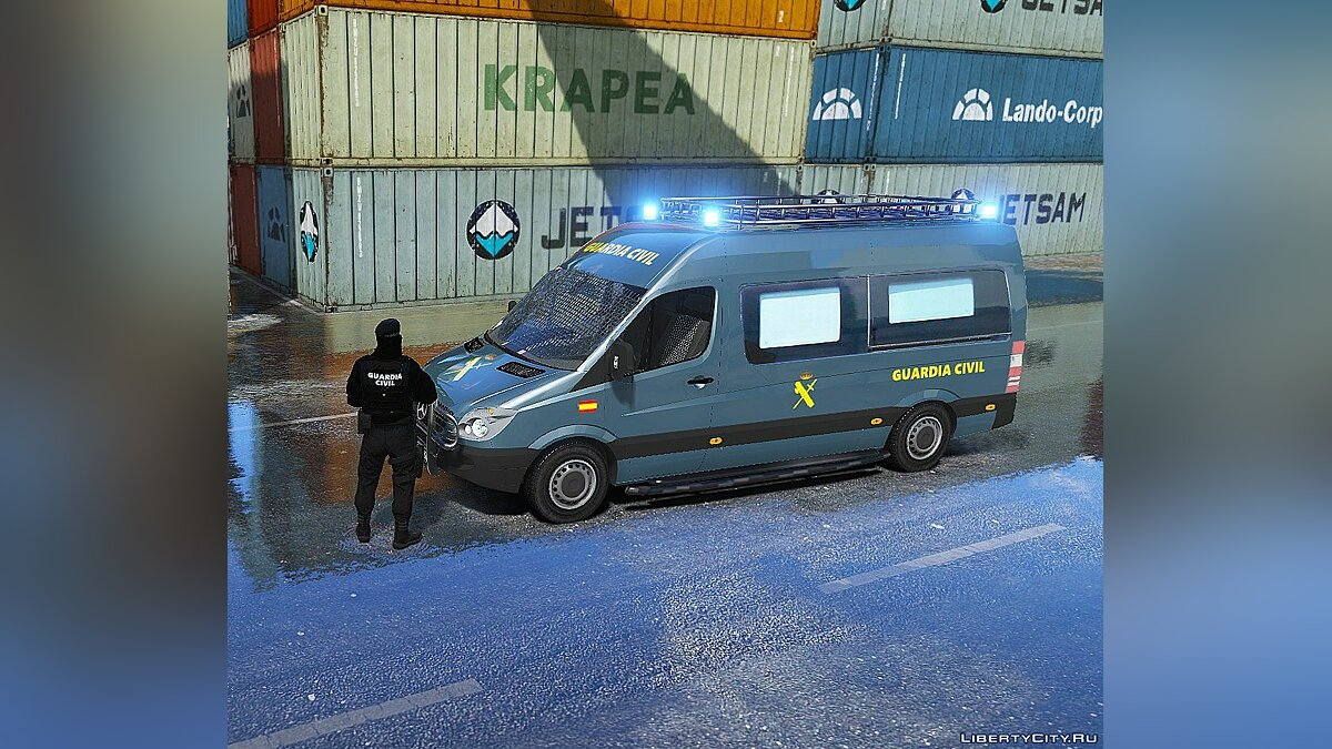 Mercedes Sprinter Guardia Civil GRS (ELS) 1.1 для GTA 5