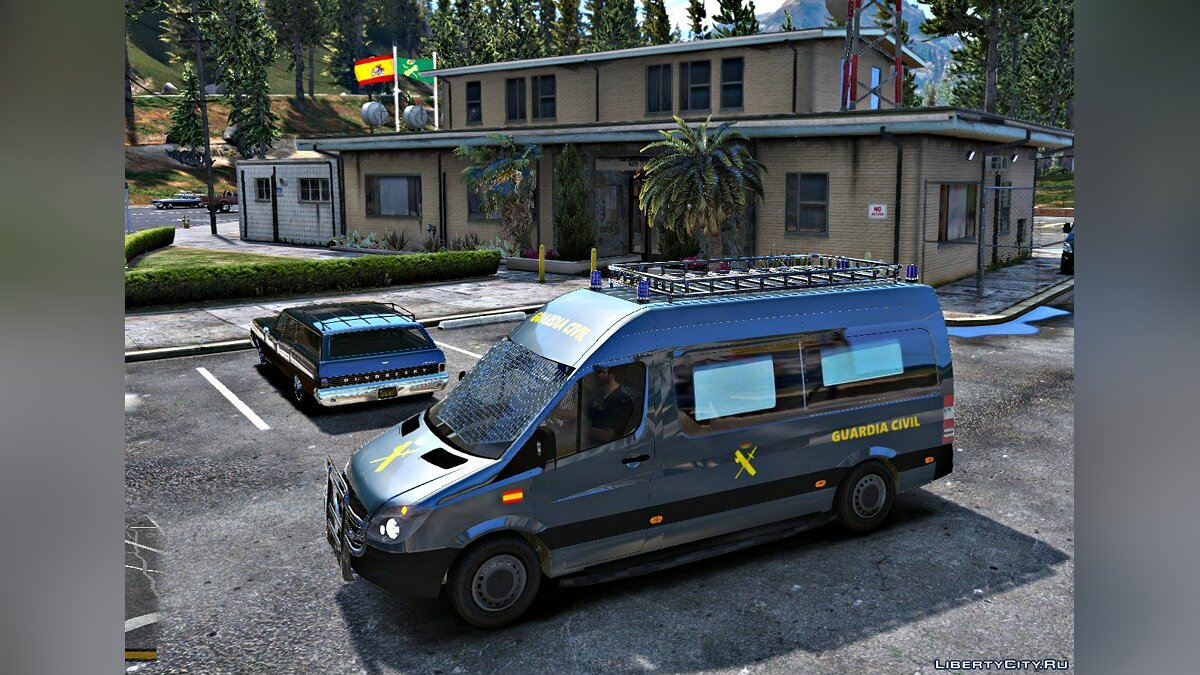Mercedes Sprinter Guardia Civil GRS (ELS) 1.1 для GTA 5 - скриншот #2