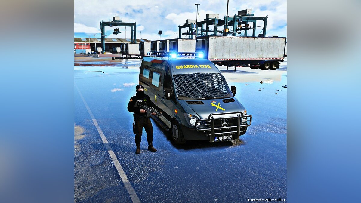 Mercedes Sprinter Guardia Civil GRS (ELS) 1.1 для GTA 5 - скриншот #3