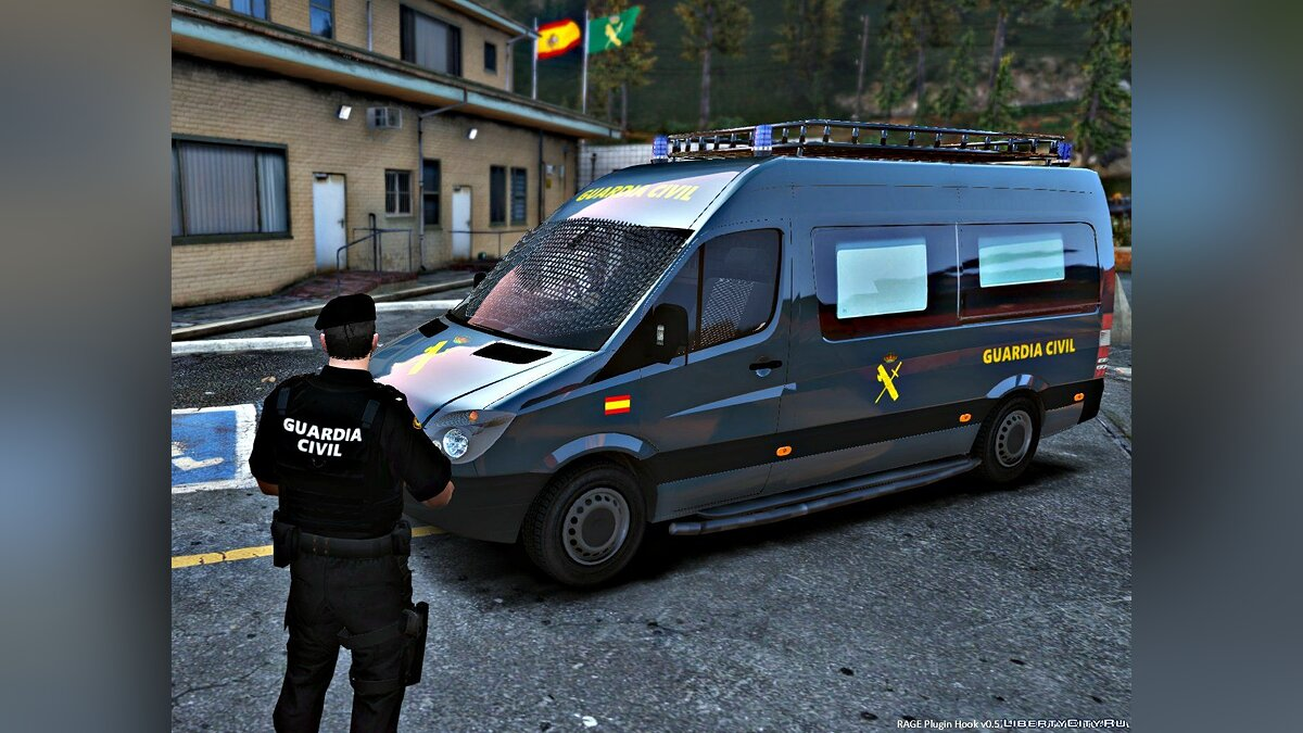 Mercedes Sprinter Guardia Civil GRS (ELS) 1.1 для GTA 5 - скриншот #4